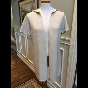 Pure Jill hooded cotton cardigan sweater